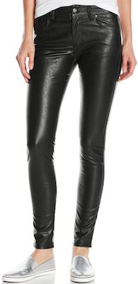 women's black Faux Leather Pants