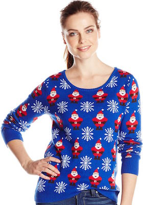 girls Santa All Over Christmas Sweater