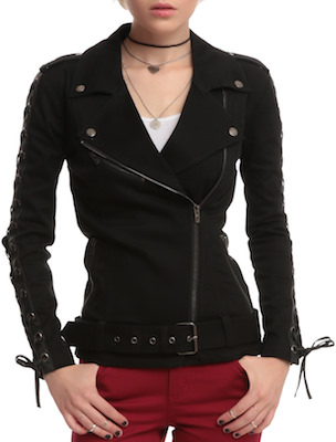 Black Twill Moto Jacket
