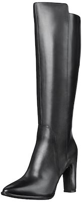 Kenneth Cole New York Black Knee High Heeled Boots
