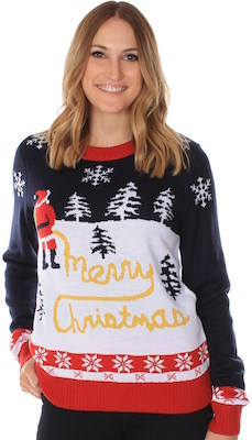 Women's Yellow Snow Ugly Christmas Sweater