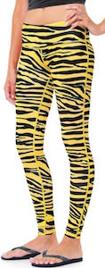 Yellow Zebra Strip leggings