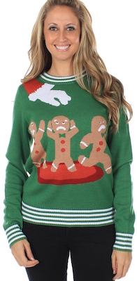 Women's Gingerbread Nightmare Christmas Sweater