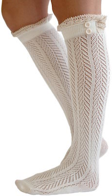 Boot Socks With Lace Trim