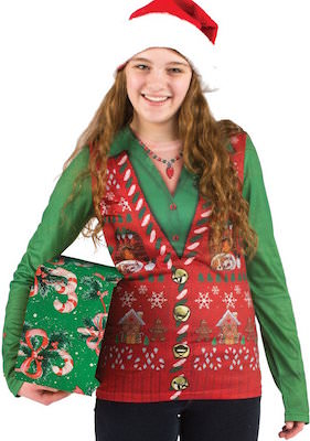 Ugly Christmas Sweater Vest T-Shirt