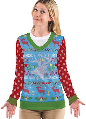Women's Check Out My Rack Ugly Christmas Sweater