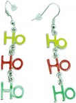 Santa Ho Ho Ho Christmas Earrings