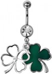 St Patrick's Day Shamrock Belly Ring