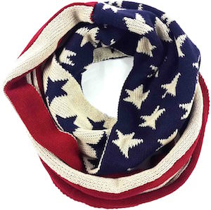 American Stars And Stripes Knit Infinity Scarf