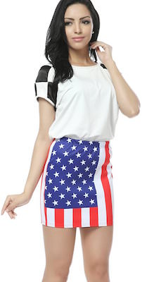 American Flag Women's Skirt