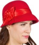 Wool Red Cloche Bucket Hat
