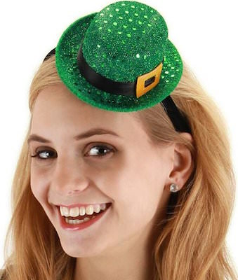 St Patrick's Day Women's Mini Sequin Leprechaun Hat