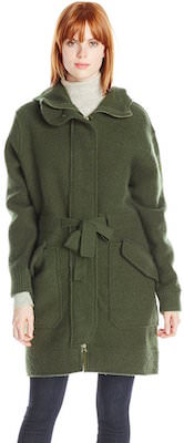 Diesel Women's Green Wool Coat