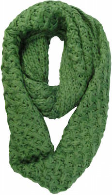 Women's Green Knit Infinity Scarf