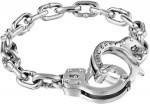 King Baby Handcuff Clasp Silver Bracelet