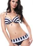 Women's Black And White Bikini Set And Cover Up Dress