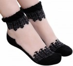 Transparent And Lace Women's Socks