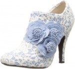 Floral And Lace High Heel Shoes