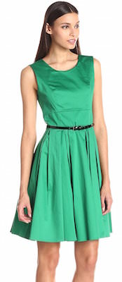 Green Calvin Klein Fit And Flare Women's Dress