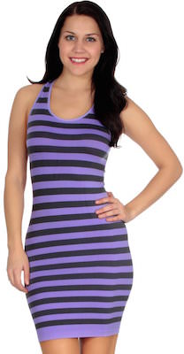 Striped Sleeveless Tank Top Dress