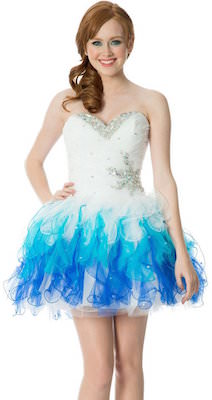 Short Tonal Ruffle Dress For Prom Or Homecoming and also sweet 16
