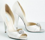 Betsey Johnson Ivory Heels With Bling