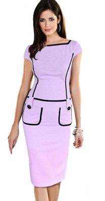 Women's Purple Pencil Dress