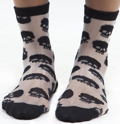 Women's Skulls All Over Socks