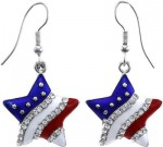Star Shaped Stars And Stripes Earrings
