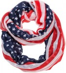 American Stars And Stripes Flag Infinity Scarf
