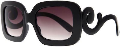 Black Sunglasses With Swirly Arms