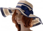 Large Brim Striped Straw Summer Hat