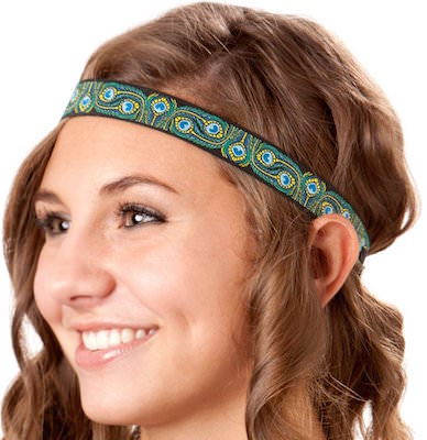 Women's Peacock Print Headband