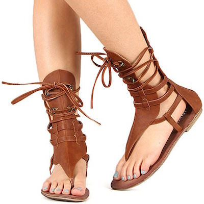Women's Brown Gladiator Sandals