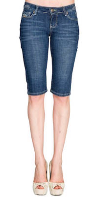 Women's Denim Bermuda Shorts