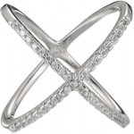 Sterling Silver Cubic Zirconia Stackable Ring