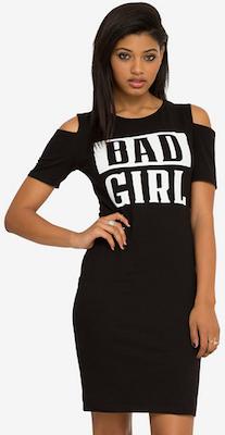 women's Black Bad Girl Dress