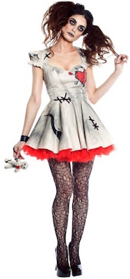 Women's Voodoo Doll Halloween Costume