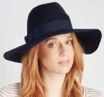 Blue Felt Women's Hat