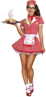 Classic Diner Doll Sexy Women's Costume