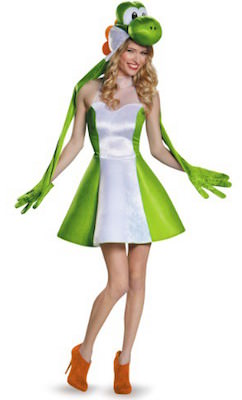 Women's Nintendo Yoshi Dress Costume
