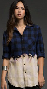 Dip Dyed Women's Flannel Shirt