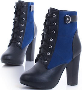 PU High Heel Boot With Round Toe