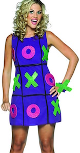 Women's Tic Tac Toe Costume Dress