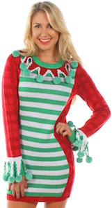 Extra Tacky Christmas Sweater Dress