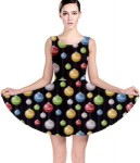 Women's Christmas Ornament Skater Dress
