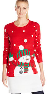 Snowman Christmas Sweater Dress