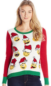 Women's Smiley Face Christmas sweater