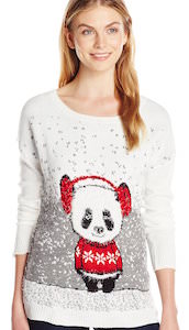 Women's Panda Bear Christmas Sweater