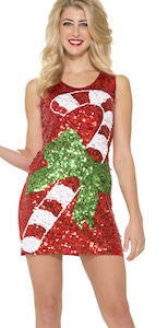 Sequin Christmas Candy Cane Dress